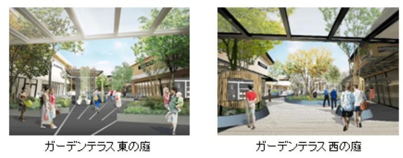三井アウトレットパーク木更津のリニューアル情報(ガーデンテラス1)