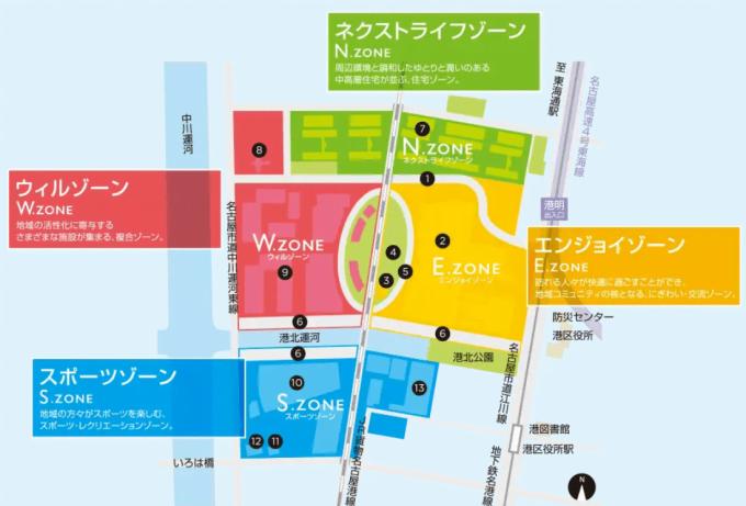 ららぽーと名古屋みなとアクルス(みなとアルクス開発計画図1)