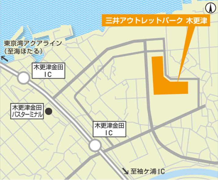 三井アウトレットパーク木更津のリニューアル情報(詳細図)