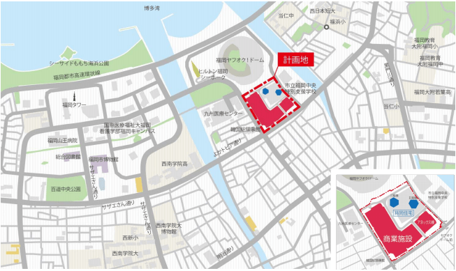 MARK IS 福岡ももち(広域図・土地利用計画図)