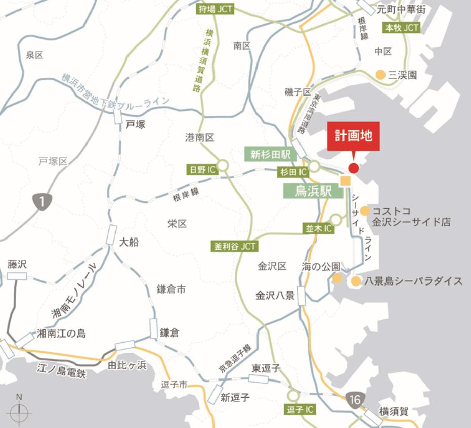 三井アウトレットパーク 横浜ベイサイド(広域図)