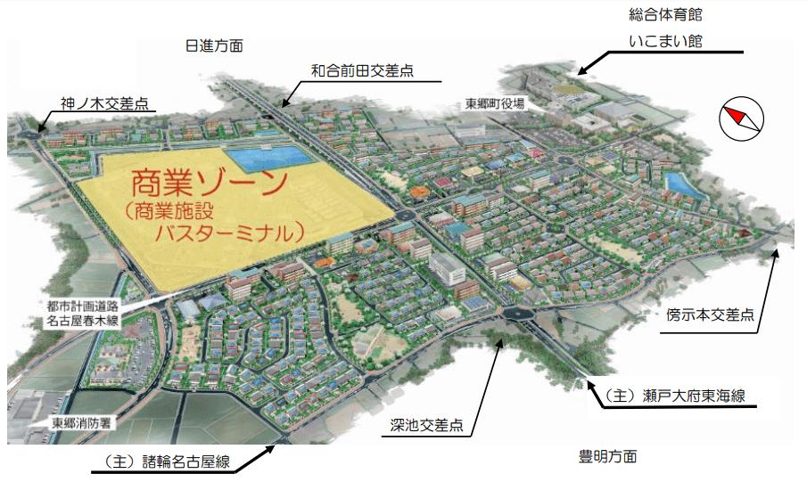 ららぽーと東郷の将来のイメージ図