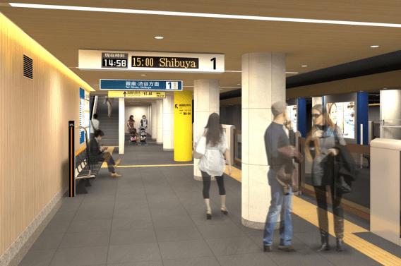 銀座線のリニューアル情報(日本橋駅の銀座線ホームのイメージ図)