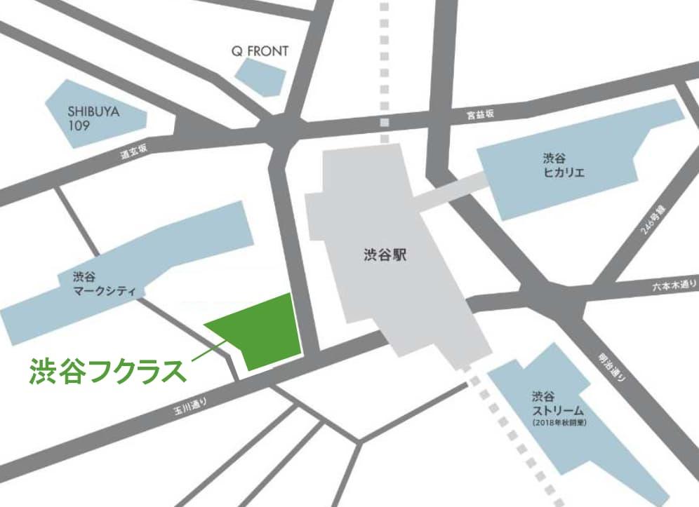 渋谷フクラスの情報(周辺の地図)