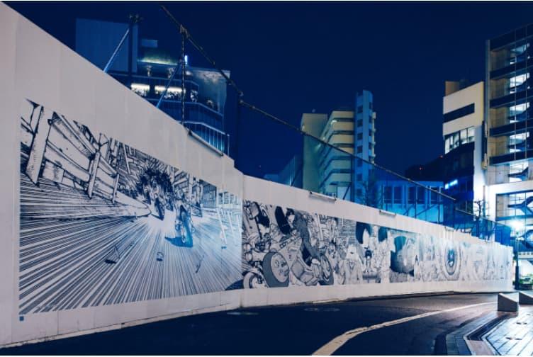 渋谷パルコのリニューアル情報(建て替え工事仮囲いのアートウォール)