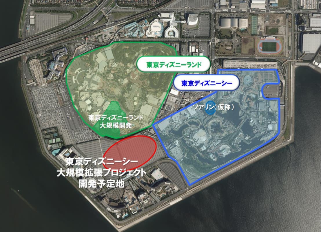 東京ディズニーシーの大規模拡張工事(工事内容/工事エリア)