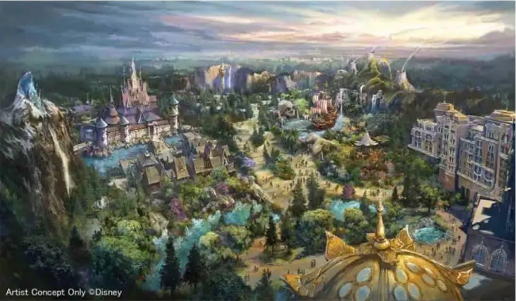 東京ディズニーシーの大規模拡張工事(新エリアの全景イメージ)