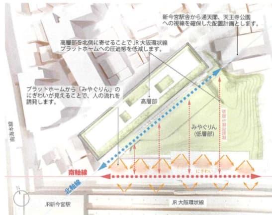 JR新今宮駅前の星野リゾートの都市観光ホテル情報(周辺への配慮1)