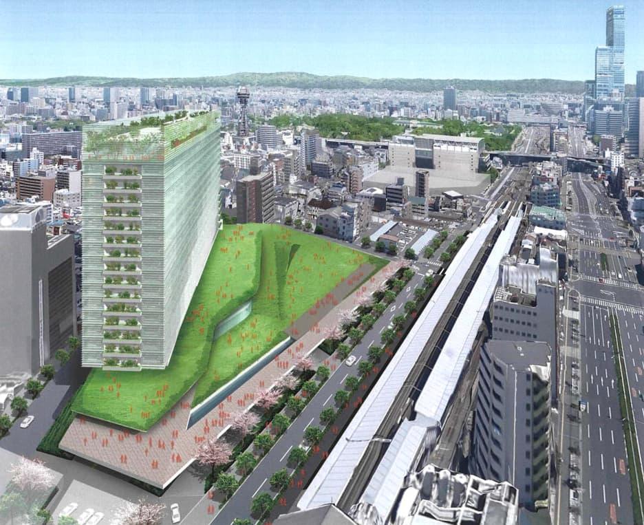 JR新今宮駅前の星野リゾートの都市観光ホテル情報(Googleマップとの合成図)