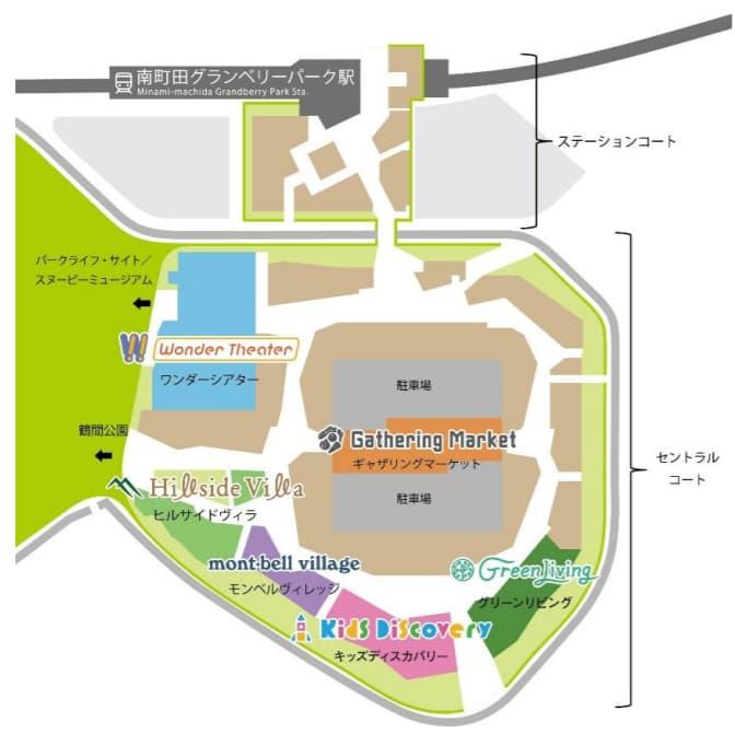 南町田グランベリーパーク(マップ)