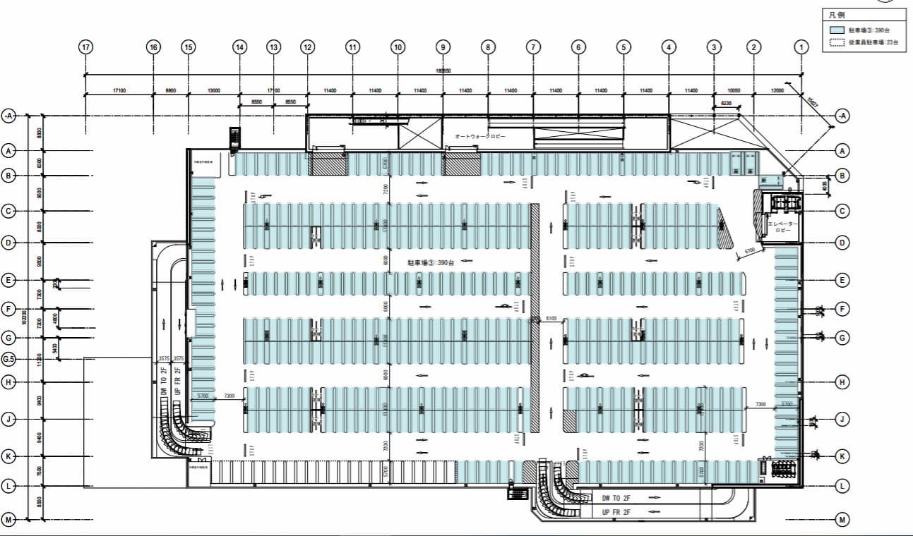 コストコ 守山倉庫店 3階平面図