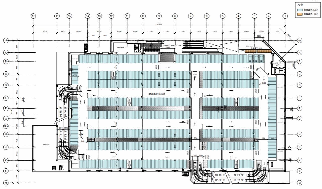 コストコ 守山倉庫店 2階平面図