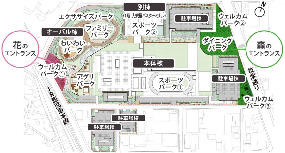 福岡県福岡市 ララポート キッザニア(全体配置図)