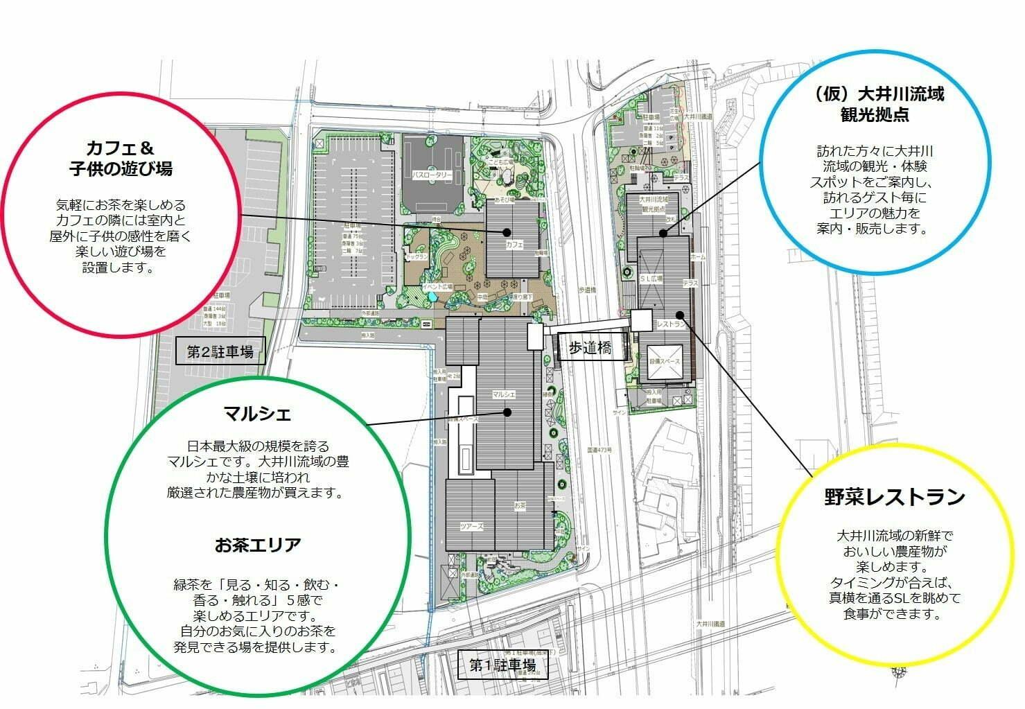 KADODE OOIGAWA 施設全体配置図