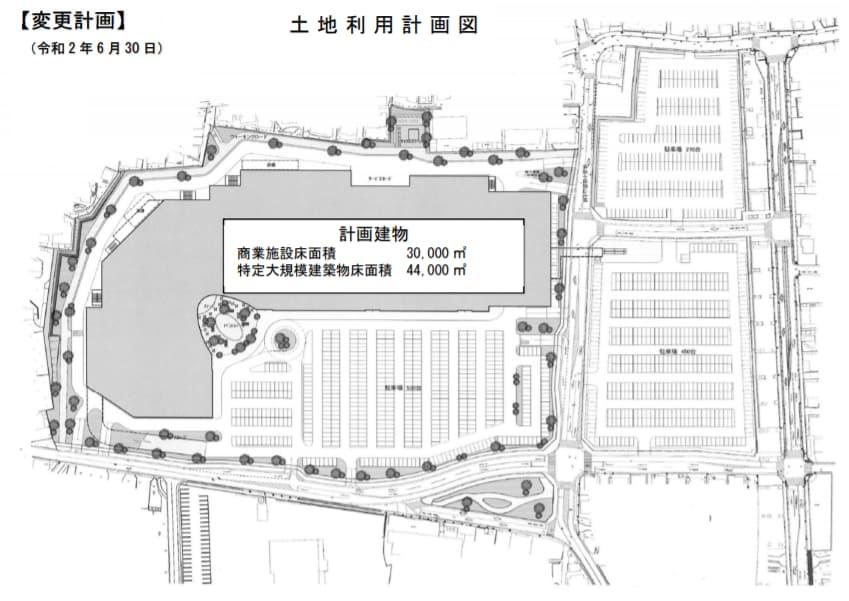 イオンタウン小田原(土地計画利用図)