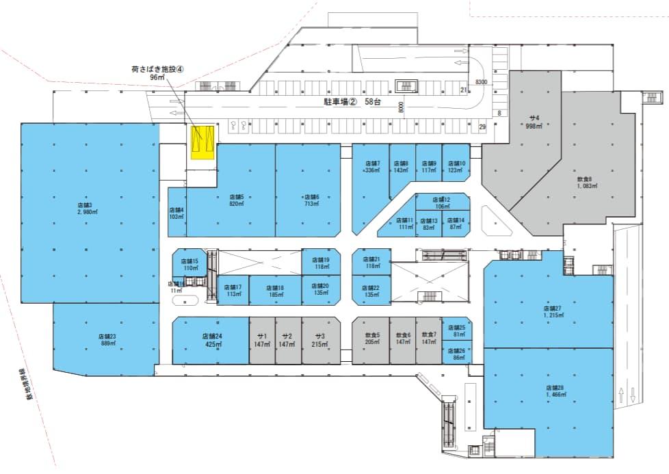 ビバモール一宮(2階平面図)